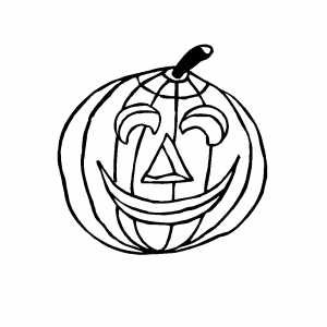 Small Pumpkin Coloring Page