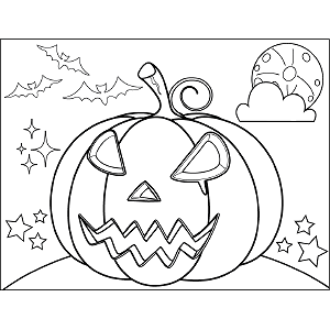 Spooky Jack-o-Lantern coloring page
