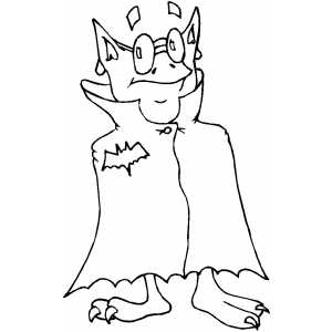 Vampire Costume coloring page