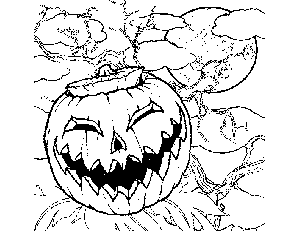 Wicked Pumpkin coloring page