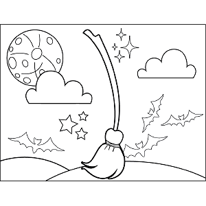 Witch Broom coloring page