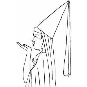 Wizard Costume coloring page