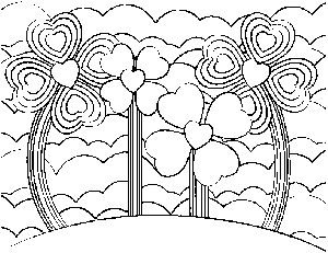 Heart Garden 2 coloring page