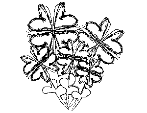 Scribble Flower Heart Bunch Coloring Page