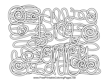 Apology Hidden Word coloring page