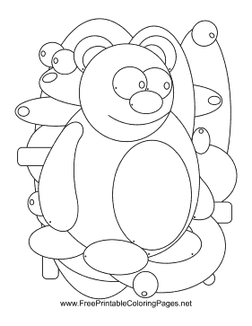 Bear Hidden Animal coloring page