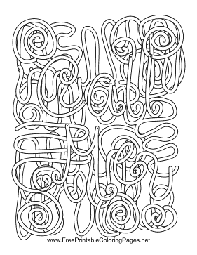 Call Me Hidden Word coloring page