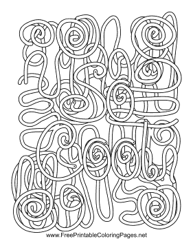 Cool Hidden Word coloring page