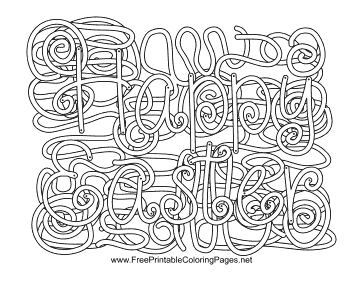 Easter Hidden Word coloring page