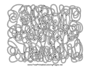Fathers Day Hidden Word coloring page