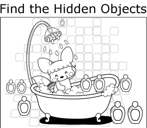 Fox Showering coloring page