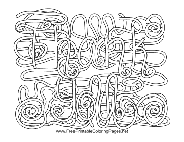 Gratitude Hidden Word coloring page