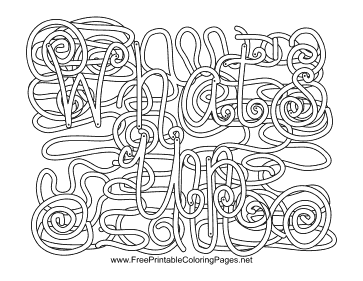 Greeting Hidden Word coloring page