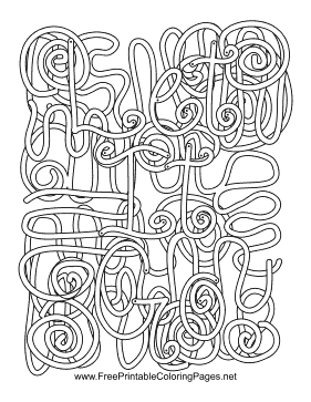 Let Go Hidden Word coloring page