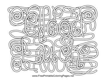 Lucky Hidden Word coloring page