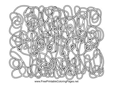 Mothers Day Hidden Word coloring page