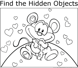 Mouse and Cheese coloring page