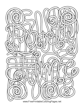 Party Hidden Word Vertical coloring page