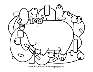Pig Hidden Animal coloring page