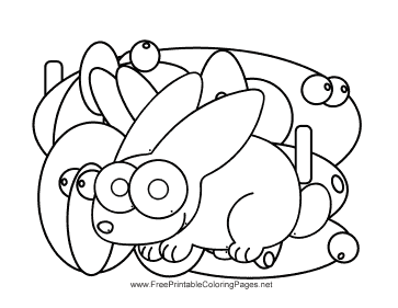 Rabbit Hidden Animal coloring page