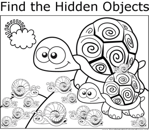 Turtles and Snails coloring page