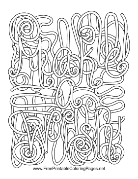 Wish Hidden Word coloring page