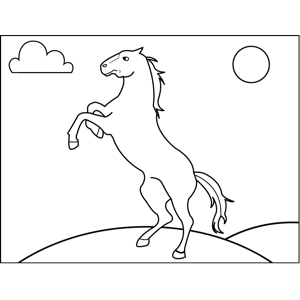 Angry Horse coloring page