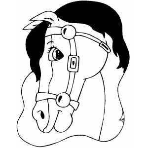 Beautiful Horse Head coloring page