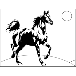 Black-and-White Horse coloring page