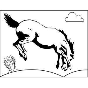 Bucking Horse coloring page