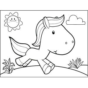Cantering Horse coloring page
