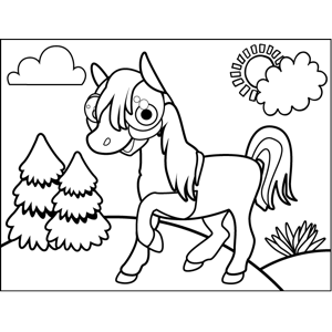 Excited Pony coloring page