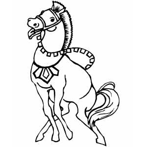 Exciting Horse coloring page
