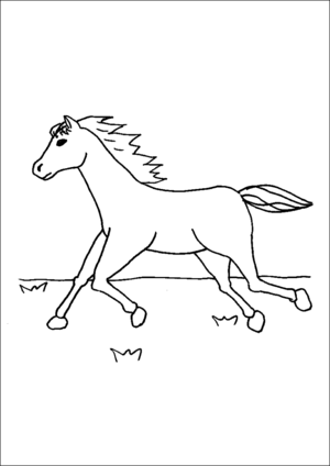 Fast Running Horse coloring page
