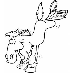 Funny Horse On Two Legs coloring page