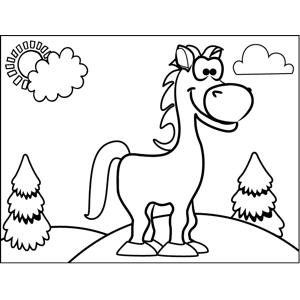Happy Horse coloring page