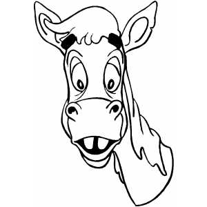 Horse Happy Head coloring page