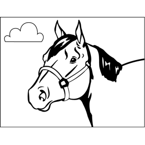 horse head coloring pictures
