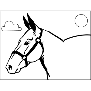 Horse No Mane coloring page