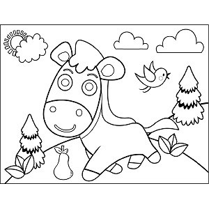 Horse Prancing coloring page