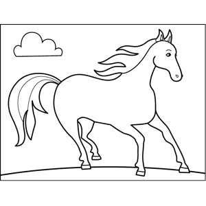 Horse Shying coloring page
