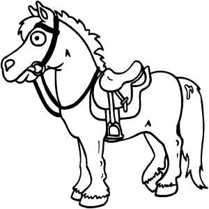 Horse With Saddle coloring page