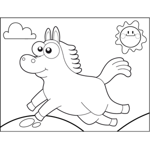 Leaping Horse coloring page