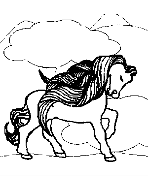 Lovely Pony Coloring Page