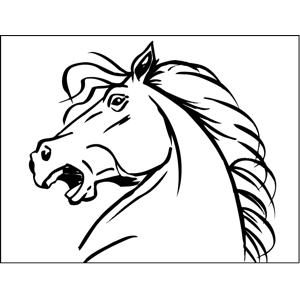 Neighing Horse coloring page