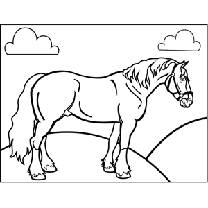 Plow Horse Coloring Page