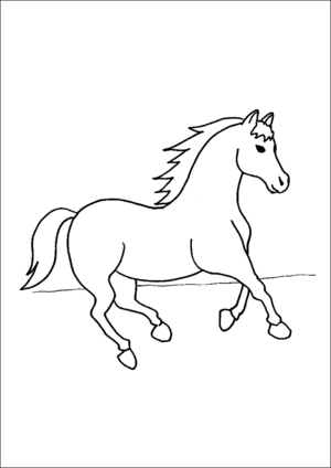 Prancing Horse coloring page