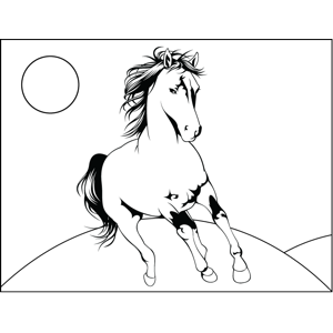 Roaming Horse coloring page