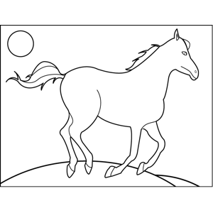 Sad Horse coloring page