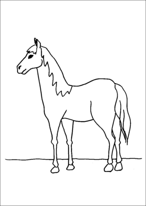 Standing Horse coloring page